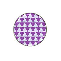 Triangle2 White Marble & Purple Denim Hat Clip Ball Marker (10 Pack)