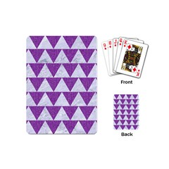 Triangle2 White Marble & Purple Denim Playing Cards (mini)  by trendistuff