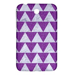 Triangle2 White Marble & Purple Denim Samsung Galaxy Tab 3 (7 ) P3200 Hardshell Case