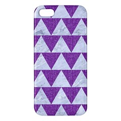 Triangle2 White Marble & Purple Denim Iphone 5s/ Se Premium Hardshell Case
