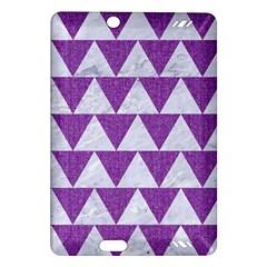 Triangle2 White Marble & Purple Denim Amazon Kindle Fire Hd (2013) Hardshell Case