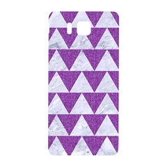Triangle2 White Marble & Purple Denim Samsung Galaxy Alpha Hardshell Back Case