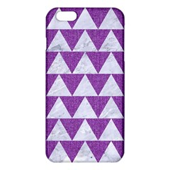 Triangle2 White Marble & Purple Denim Iphone 6 Plus/6s Plus Tpu Case