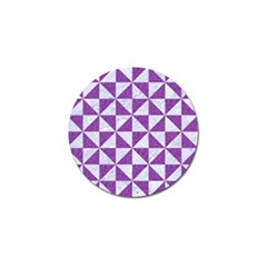 Triangle1 White Marble & Purple Denim Golf Ball Marker (4 Pack)