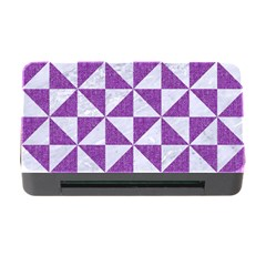 Triangle1 White Marble & Purple Denim Memory Card Reader With Cf