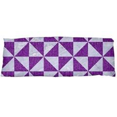 Triangle1 White Marble & Purple Denim Body Pillow Case Dakimakura (two Sides)
