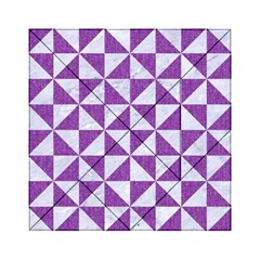 Triangle1 White Marble & Purple Denim Acrylic Tangram Puzzle (6  X 6 )