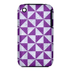 Triangle1 White Marble & Purple Denim Iphone 3s/3gs