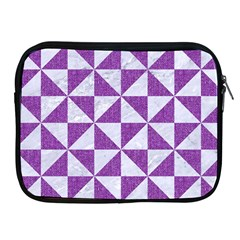 Triangle1 White Marble & Purple Denim Apple Ipad 2/3/4 Zipper Cases