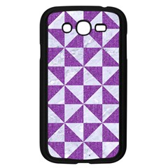 Triangle1 White Marble & Purple Denim Samsung Galaxy Grand Duos I9082 Case (black)