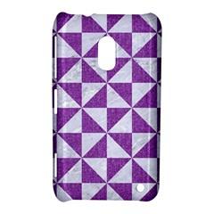 Triangle1 White Marble & Purple Denim Nokia Lumia 620