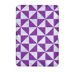 Triangle1 White Marble & Purple Denim Samsung Galaxy Tab 2 (10 1 ) P5100 Hardshell Case  by trendistuff