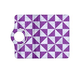 Triangle1 White Marble & Purple Denim Kindle Fire Hd (2013) Flip 360 Case