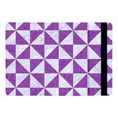 Triangle1 White Marble & Purple Denim Apple Ipad Pro 10 5   Flip Case