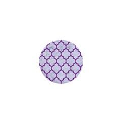 Tile1 White Marble & Purple Denim (r) 1  Mini Magnets by trendistuff