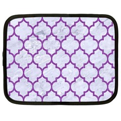 Tile1 White Marble & Purple Denim (r) Netbook Case (xxl)  by trendistuff