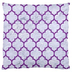 Tile1 White Marble & Purple Denim (r) Large Cushion Case (two Sides)