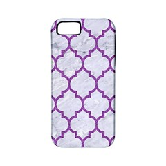 Tile1 White Marble & Purple Denim (r) Apple Iphone 5 Classic Hardshell Case (pc+silicone) by trendistuff