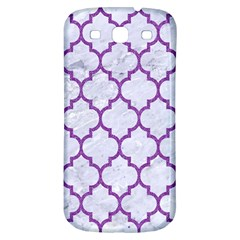 Tile1 White Marble & Purple Denim (r) Samsung Galaxy S3 S Iii Classic Hardshell Back Case