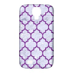 Tile1 White Marble & Purple Denim (r) Samsung Galaxy S4 Classic Hardshell Case (pc+silicone)