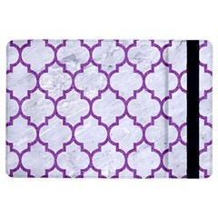 Tile1 White Marble & Purple Denim (r) Ipad Air Flip