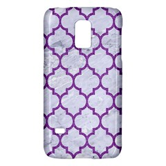 Tile1 White Marble & Purple Denim (r) Galaxy S5 Mini by trendistuff