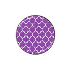 Tile1 White Marble & Purple Denim Hat Clip Ball Marker (10 Pack) by trendistuff