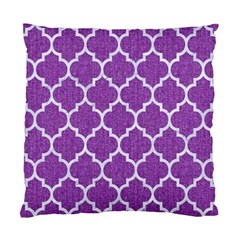 Tile1 White Marble & Purple Denim Standard Cushion Case (one Side)