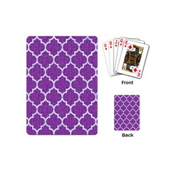 Tile1 White Marble & Purple Denim Playing Cards (mini)
