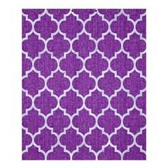 Tile1 White Marble & Purple Denim Shower Curtain 60  X 72  (medium)
