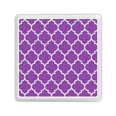 Tile1 White Marble & Purple Denim Memory Card Reader (square)