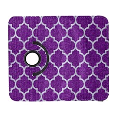 Tile1 White Marble & Purple Denim Galaxy S3 (flip/folio)