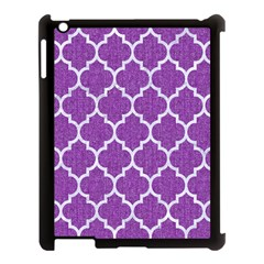 Tile1 White Marble & Purple Denim Apple Ipad 3/4 Case (black) by trendistuff