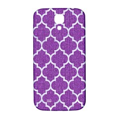 Tile1 White Marble & Purple Denim Samsung Galaxy S4 I9500/i9505  Hardshell Back Case