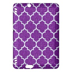 Tile1 White Marble & Purple Denim Kindle Fire Hdx Hardshell Case by trendistuff