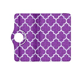 Tile1 White Marble & Purple Denim Kindle Fire Hdx 8 9  Flip 360 Case
