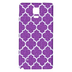 Tile1 White Marble & Purple Denim Galaxy Note 4 Back Case