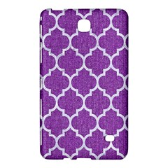 Tile1 White Marble & Purple Denim Samsung Galaxy Tab 4 (8 ) Hardshell Case