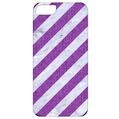 Stripes3 White Marble & Purple Denim (r) Apple Iphone 5 Classic Hardshell Case