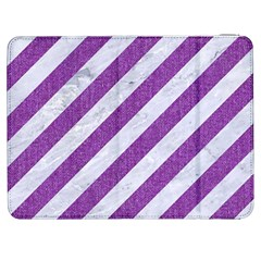 Stripes3 White Marble & Purple Denim (r) Samsung Galaxy Tab 7  P1000 Flip Case