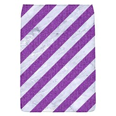 Stripes3 White Marble & Purple Denim (r) Flap Covers (s)