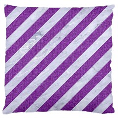 Stripes3 White Marble & Purple Denim (r) Standard Flano Cushion Case (one Side) by trendistuff