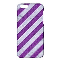 Stripes3 White Marble & Purple Denim (r) Apple Iphone 6 Plus/6s Plus Hardshell Case