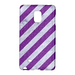 Stripes3 White Marble & Purple Denim (r) Galaxy Note Edge