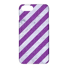 Stripes3 White Marble & Purple Denim (r) Apple Iphone 8 Plus Hardshell Case