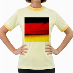 Colors And Fabrics 7 Women s Fitted Ringer T Shirts