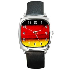 Colors And Fabrics 7 Square Metal Watch