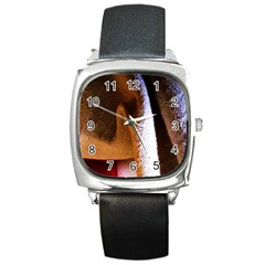 Colors And Fabrics 28 Square Metal Watch