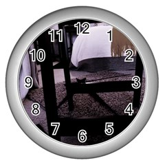 Colors And Fabrics 27 Wall Clocks (Silver)