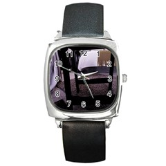 Colors And Fabrics 27 Square Metal Watch